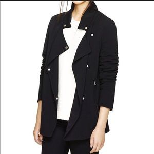 Wilfred black buttoned Mayet Jacket Zip pockets